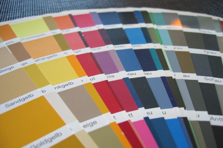 Dostępny wybór kolorów RAL